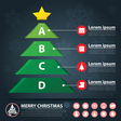 christmas banner infographic vector image vector image