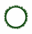 christmas wreath with pine tree branches round vector image vector image