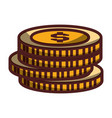 coins money stacked icon isolated design shadow vector image
