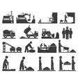 construction earthworks icons mining vector image