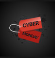 cyber monday sale tag poster online shopping vector image vector image