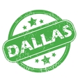 Dallas green stamp vector image vector image