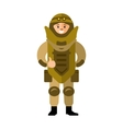 Demolitions Man in Bomb suit Flat style vector image vector image