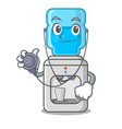 doctor cartoon water cooler for office and home vector image vector image