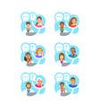 doctors medical consultation patients online vector image