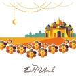 Eid Mubarak arabic muslim card design vector image vector image