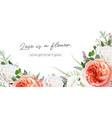 elegant trendy floral watercolor bouquet frame vector image vector image