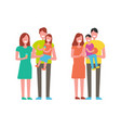 family happy together people vector image vector image