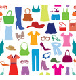 fashion cloth seamless pattern women clothes and vector image