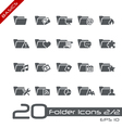 Folder icons 2of2 basics vector | Price: 1 Credit (USD $1)
