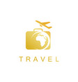 gold travel logo vector image