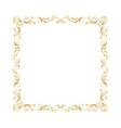 Golden ornamental insignia vector image