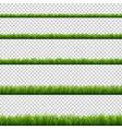 green grass big set transparent background vector image vector image