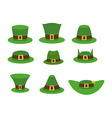 Green Hat leprechaun Leprechaun hat Green Hat vector image vector image