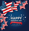 happy memorial day with stars vector image vector image