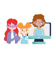 happy teachers day teacher students girl boy vector image vector image