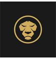 head lion design vector image vector image