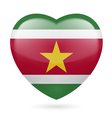 Heart icon of Suriname vector image vector image