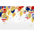 independence day of the usa sale banner template vector image vector image