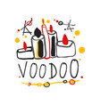 kid s style drawing voodoo magic logo or label vector image vector image