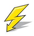 lightning sign vector image vector image