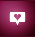 like and heart icon counter notification icon vector image vector image
