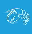 lobster crayfish cancer crayfish outline shape vector image
