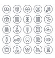 medicine healthcare icons set on white vector image
