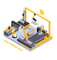 metal industry isometric composition vector image vector image