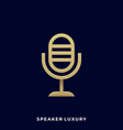 microphone template vector image