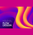 modern abstract design background flow motion vector image vector image