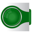 modern green banner with circle frame vector image