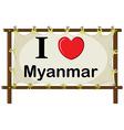 Myanmar vector image