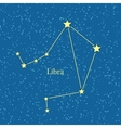 Night Sky with Libra Constellation vector image