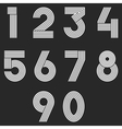 Numbers set hipster parallel offset thin lines vector image vector image