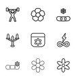 ornament icons vector image vector image
