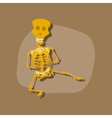 paper sticker on stylish background skeleton vector image vector image