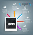photo business infographics origami style vector image vector image
