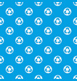 recycle sign pattern seamless blue vector image vector image