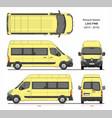 renault master passenger van l3h3 fwd 2014-2019 vector image vector image