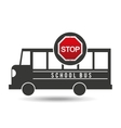 school bus side stop road sign design vector image