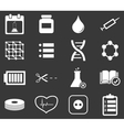 Science icon set 4 monochrome vector image