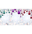 shiny backgrounds with colorful christmas balls vector image vector image