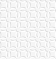 Simple geometrical white seamless vector image vector image