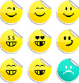 Smiley stickers vector image vector image