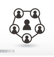 social network flat icon sign teamwork vector image vector image