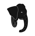 stuffed elephant headafrican safari single icon vector image