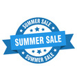 summer sale ribbon summer sale round blue sign vector image vector image