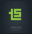 t5 - design element or icon logo with letter t vector image vector image