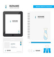 tie business logo tab app diary pvc employee card vector image vector image